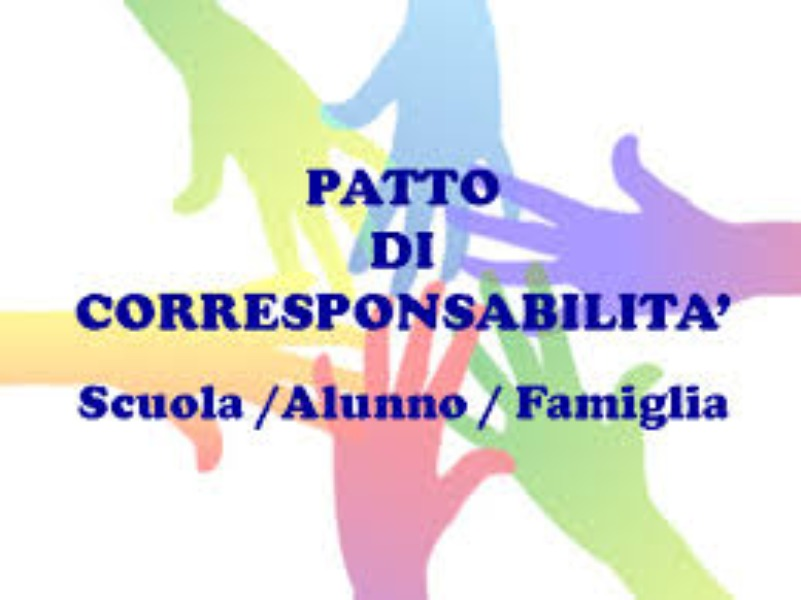PATTO EDUCATIVO  DI CORRESPONSABILITÀ' a. s. 2019/2020